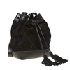 Borsetta in pelle stile Bucket Bag bata, nero, 963-6131 - 13