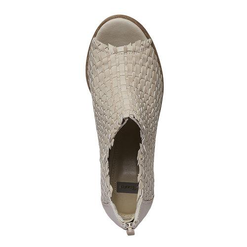 Sandali con punta aperta bata, giallo, 721-8945 - 19