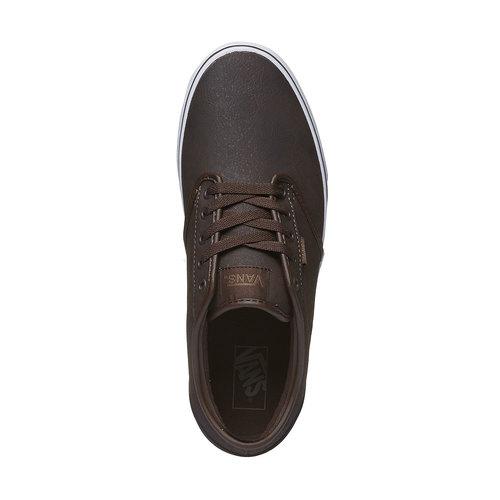 Sneakers da uomo con suola bianca vans, marrone, 801-4300 - 19