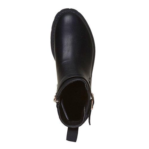 Scarpe alla caviglia con suola appariscente violetta, nero, 391-6204 - 19