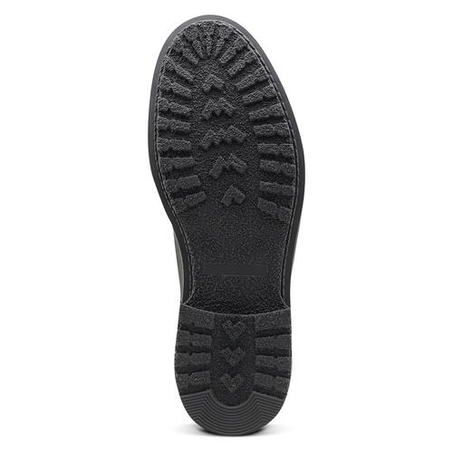 Scarpe in pelle sopra la caviglia con suola appariscente bata, nero, 894-6522 - 17