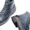 Scarpe blu di pelle alla caviglia bata, blu, 894-9522 - 19