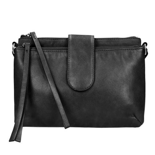 Piccola borsetta da portare sulla spalla bata, nero, 969-6458 - 19
