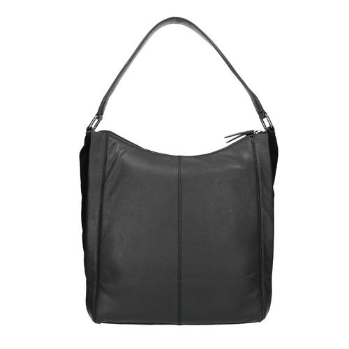 Borsetta di pelle nera in stile Hobo bata, nero, 964-6254 - 19