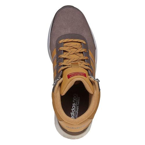 Sneakers di pelle alla caviglia adidas, marrone, 803-4894 - 19