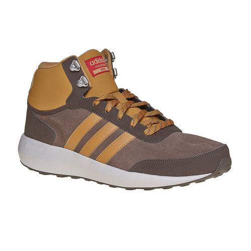 Sneakers di pelle alla caviglia adidas, marrone, 803-4894 - 13