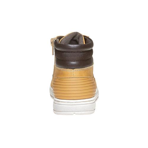 Scarpe da bambino alla caviglia mini-b, giallo, 391-8257 - 17
