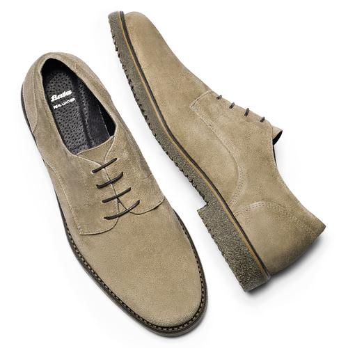 Scarpe basse casual di pelle bata, grigio, 823-2523 - 19
