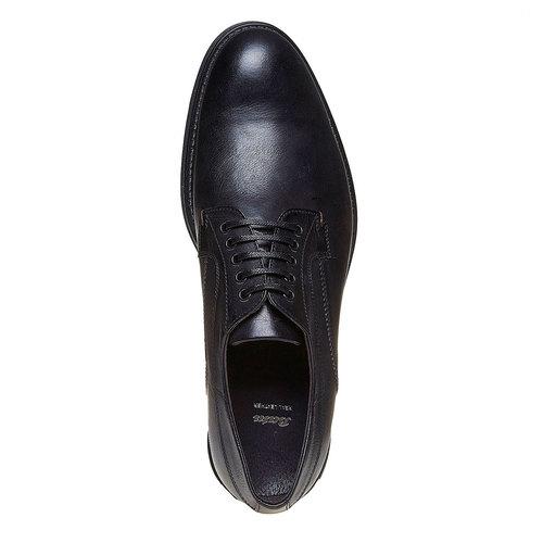 Scarpe basse casual di pelle bata, nero, 824-6556 - 19