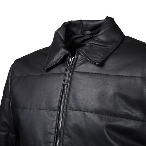 Giacca di pelle con cuciture bata, nero, 974-6165 - 16