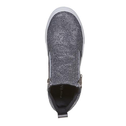 Scarpe da bambina in stile slip-on north-star, grigio, 329-2238 - 19