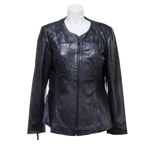 Giacca nera da donna in pelle bata, nero, 974-6173 - 13