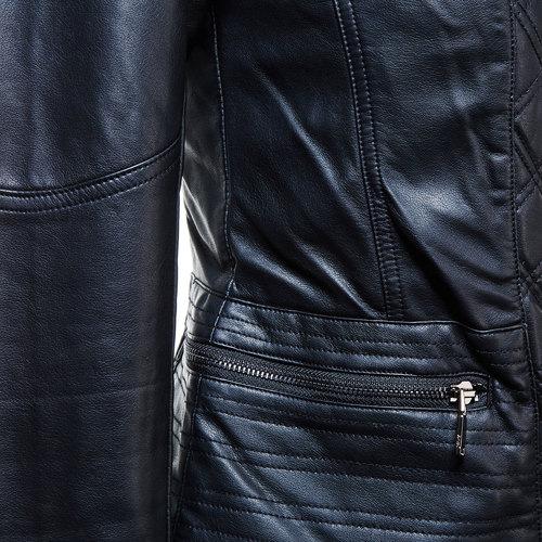Giacca da donna con cerniera trasversale bata, nero, 971-6186 - 16