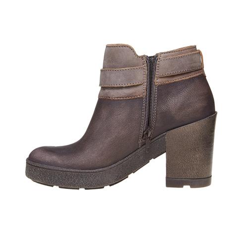 Scarpe da donna di pelle alla caviglia weinbrenner, marrone, 794-4485 - 19