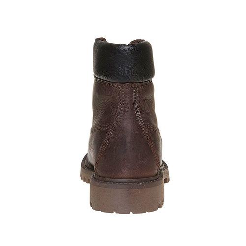 Scarpe invernali di pelle da bambino weinbrenner-junior, marrone, 394-4182 - 17
