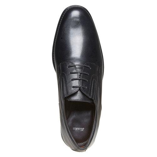 Scarpe basse da uomo Derby in pelle bata, nero, 824-6435 - 19