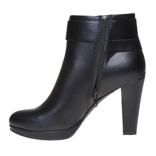 Stivaletti da donna alla caviglia bata, nero, 791-6302 - 19