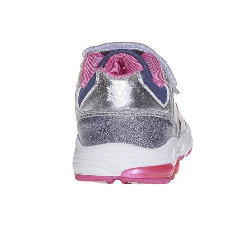Sneakers da ragazza con chiusure a velcro, grigio, 221-2172 - 17
