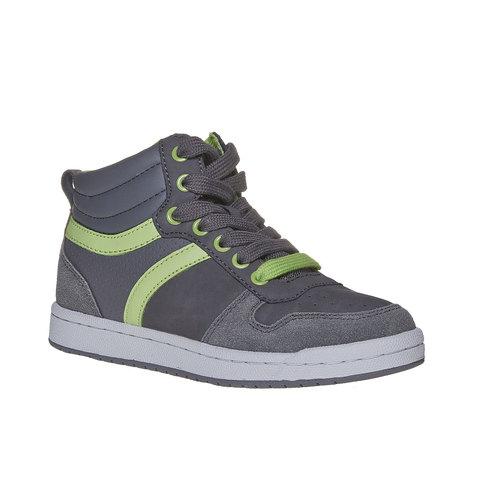Sneakers da bambino alla caviglia mini-b, grigio, 311-2232 - 13