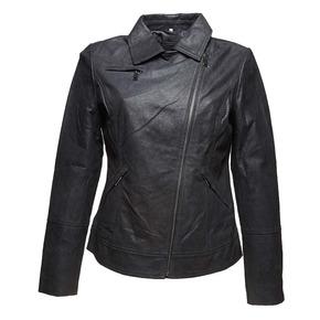 Giacca da donna in pelle con colletto bata, nero, 973-6107 - 13