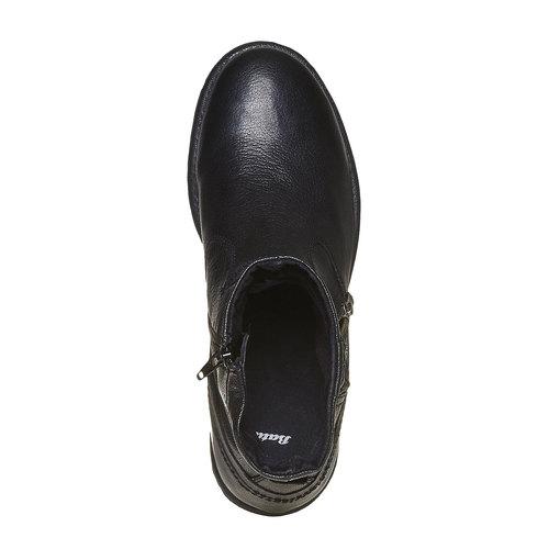Scarpe in pelle alla caviglia bata, nero, 894-6311 - 16