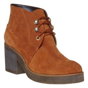 Scarpe da donna in pelle alla caviglia bata, marrone, 693-3381 - 13