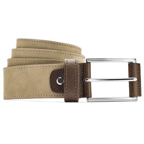 Cintura da uomo in pelle bata, giallo, 956-8100 - 13