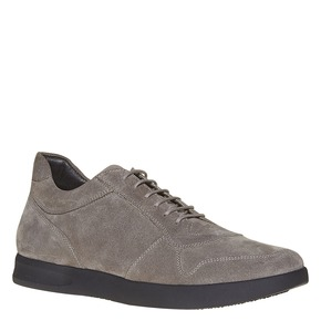 Sneakers in pelle informali bata, grigio, 843-2207 - 13
