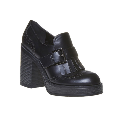 Scarpe da donna con tacco stabile bata, nero, 721-6191 - 13