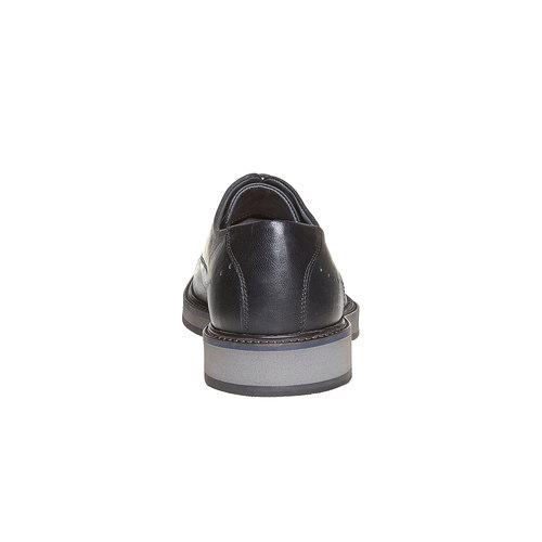 Scarpe basse di pelle con suola ampia bata-light, nero, 824-6643 - 17