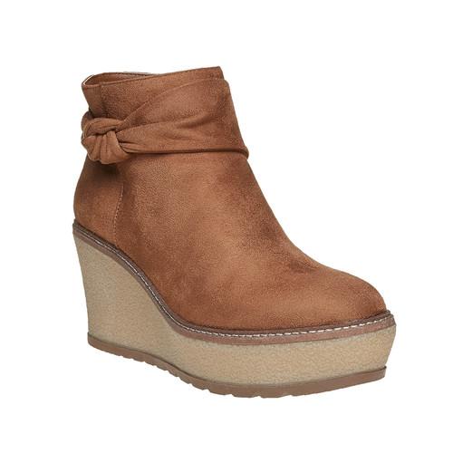 Scarpe alla caviglia con plateau alto bata, marrone, 799-3200 - 13