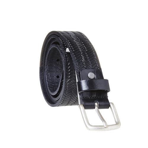Cintura da uomo strutturata bata, nero, 954-6158 - 13