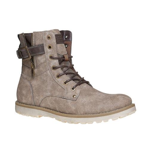 Scarpe da uomo alla caviglia bata, grigio, 891-2237 - 13