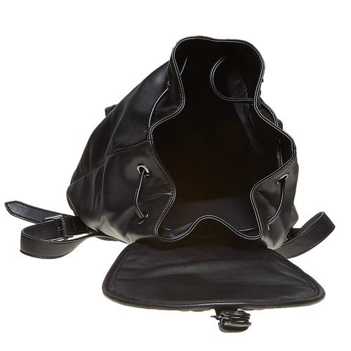 Zaino elegante con cuciture bata, nero, 961-6607 - 15