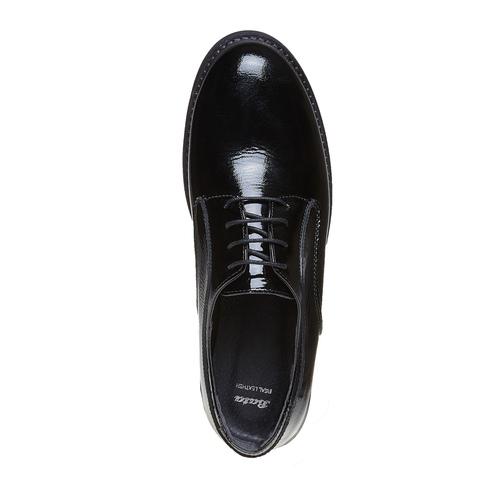 Scarpe basse da donna verniciate bata, nero, 528-6219 - 19