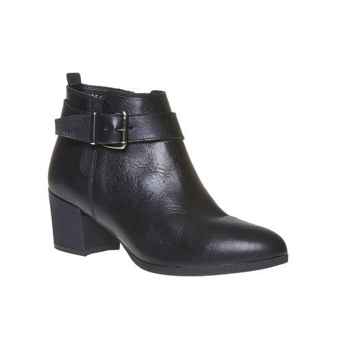 Scarpe alla caviglia con fibbia flexible, nero, 694-6344 - 13