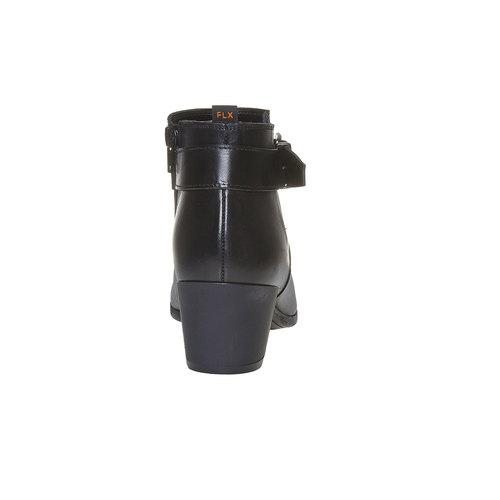 Scarpe alla caviglia con fibbia flexible, nero, 694-6344 - 17