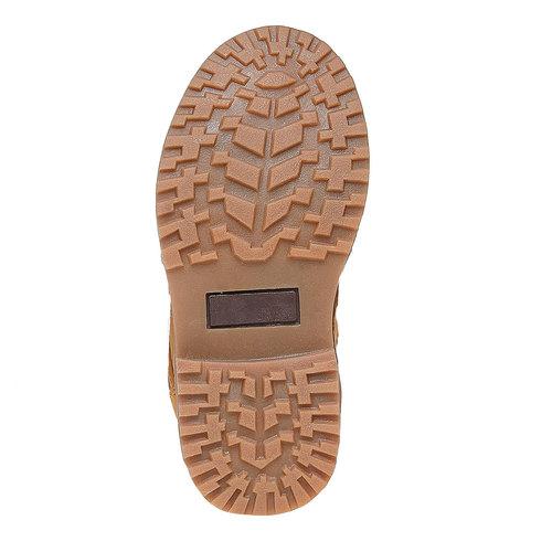 Scarpe da bambino alla caviglia mini-b, giallo, 291-8163 - 26