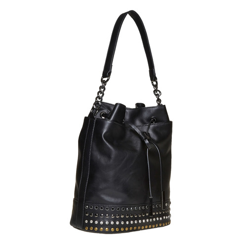 Borsetta in stile Bucket Bag bata, nero, 961-6126 - 13