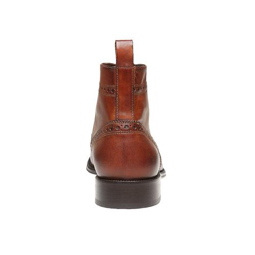 Scarpe in pelle sopra la caviglia con decorazione Brogue bata-the-shoemaker, marrone, 824-3179 - 17