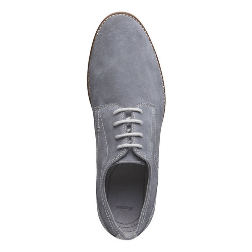 Scarpe basse di pelle in stile Derby bata, grigio, 823-2558 - 19