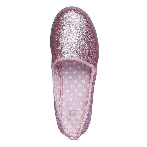 Slip-on da bambina con glitter mini-b, rosso, 329-5163 - 19