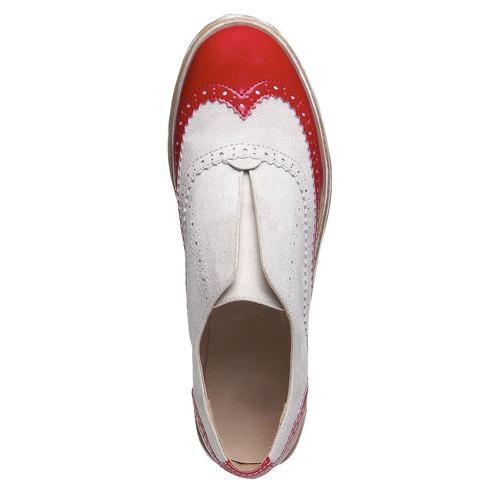 Scarpe basse da donna con decorazione bata, rosso, 519-5213 - 19