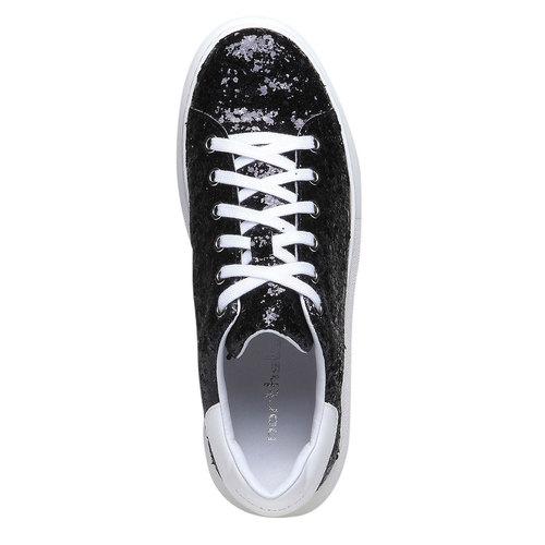 Sneakers da donna con glitter north-star, nero, 541-6223 - 19