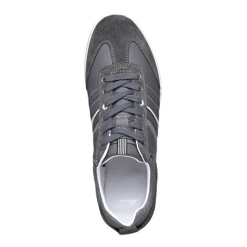 Sneakers informali da uomo bata, grigio, 841-2633 - 19
