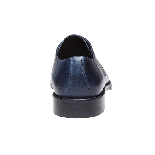 Scarpe basse di pelle blu con suola in pelle bata-the-shoemaker, blu, 824-9185 - 17