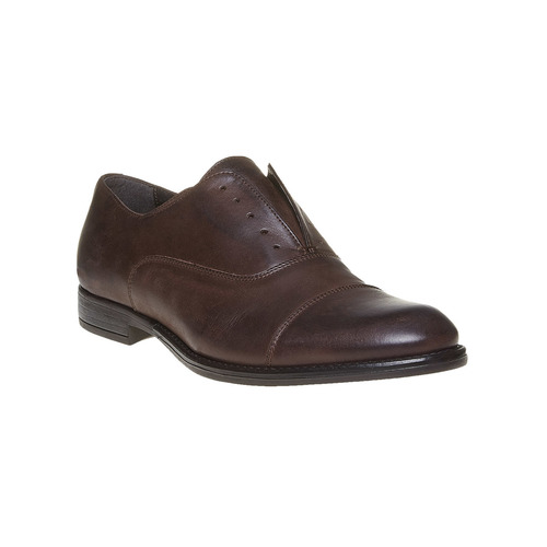 Scarpe Oxford casual in pelle bata, marrone, 824-4449 - 13
