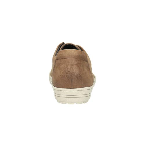 Sneakers da donna in pelle bata, beige, 524-8349 - 17