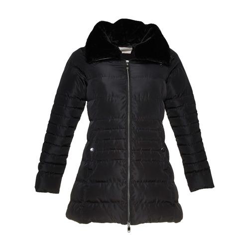 Giacca da donna con colletto in pelliccia bata, nero, 979-6649 - 13