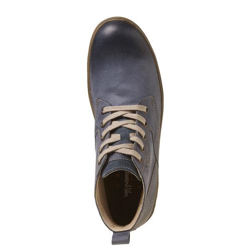 Sneakers da uomo in pelle alla caviglia weinbrenner, viola, 894-9521 - 19